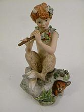 CYBIS PORCELAIN OF A YOUNG FAUN WITH HIS PIPE