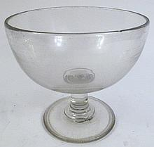 BLOWN CLEAR GLASS DISPLAY BOWL (OR COMPOTE).