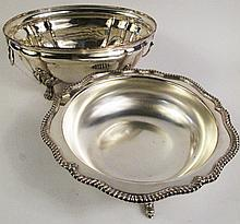 HANDWROUGHT SILVERPLATE OVAL BASIN. (Note: faint