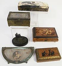 COLLECTION OF DRESSER BOXES AND ACCESSORIES.