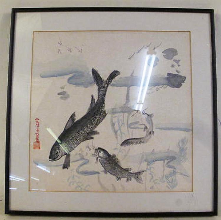 JAPANESE WOODBLOCK PRINT. Signed