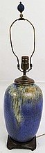 LARGE ROSEVILLE IMPERIAL II VASE.  Converted into a lamp.  13