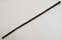 CHINESE CANE.  With iron shaft, bronze handle and a dragon motif.  30