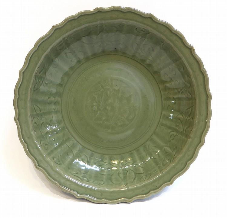Ming Celadon Plate