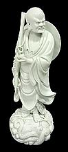 Carved Blanc De Chinese Figure