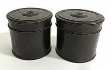 Pair Round Zitan Boxes