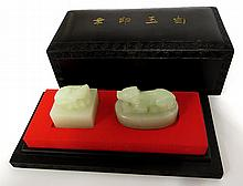 Two Chinese Jade Seals