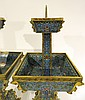 PAIR OF CHINESE CLOISONNE CANDLE STANDS