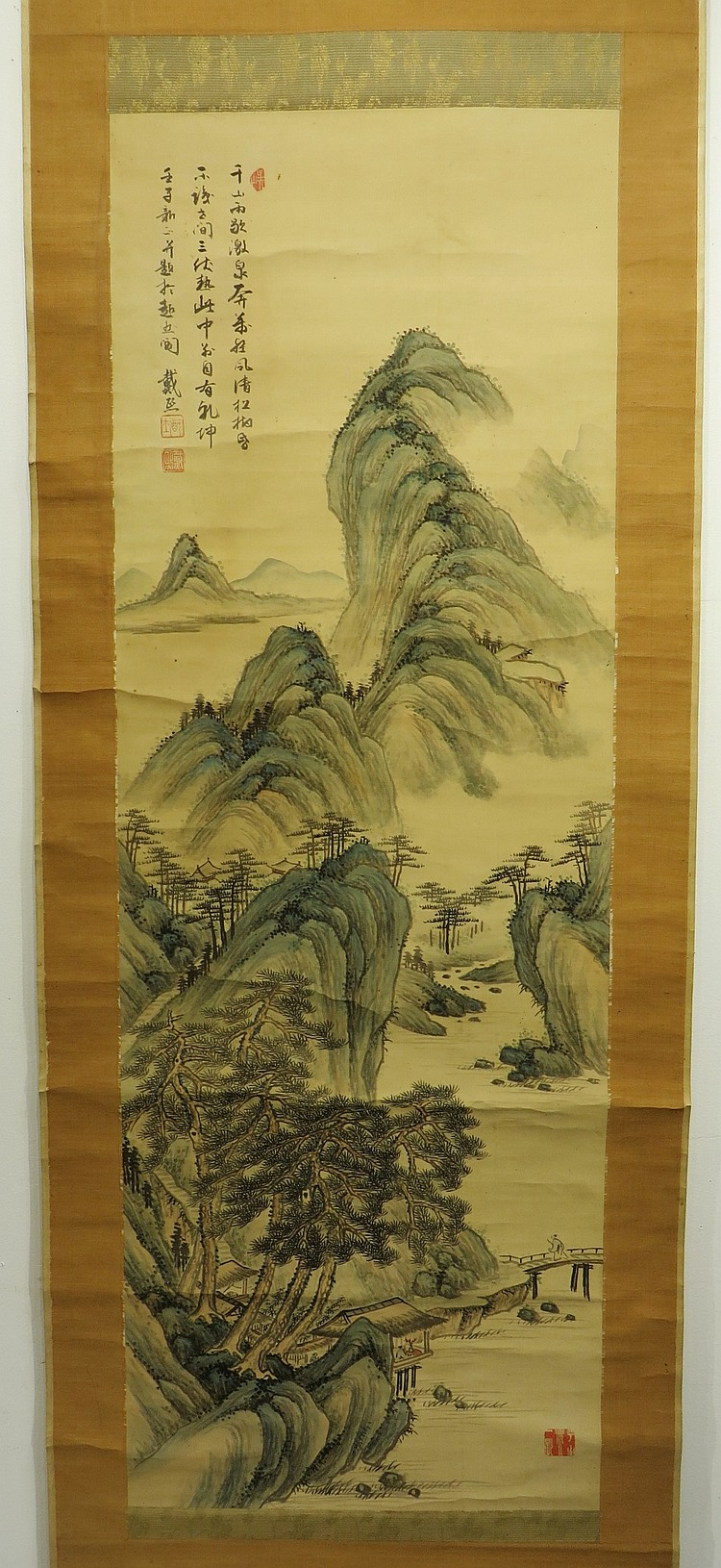 CHINESE SCROLL OF MOUNTAINS DAI XI (1801-1860)