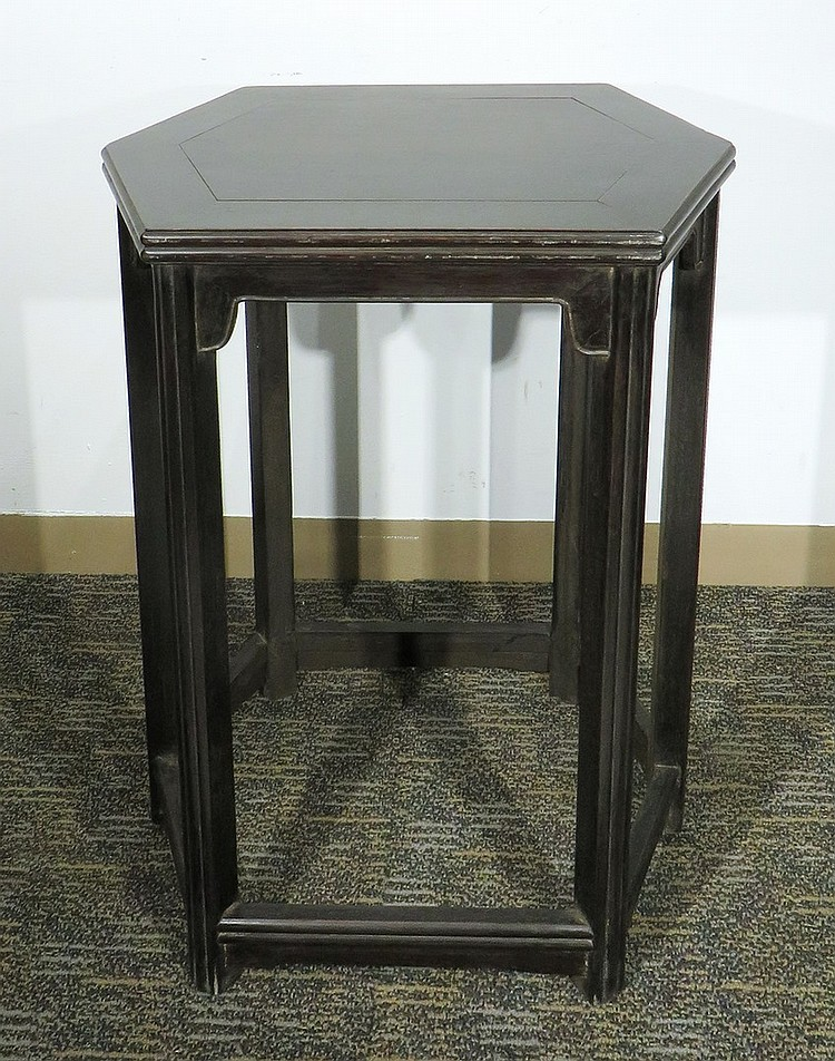 ZITAN HEXAGONAL END TABLE