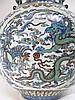 CHINESE QIAN LONG DOU CAI MOON FLASK