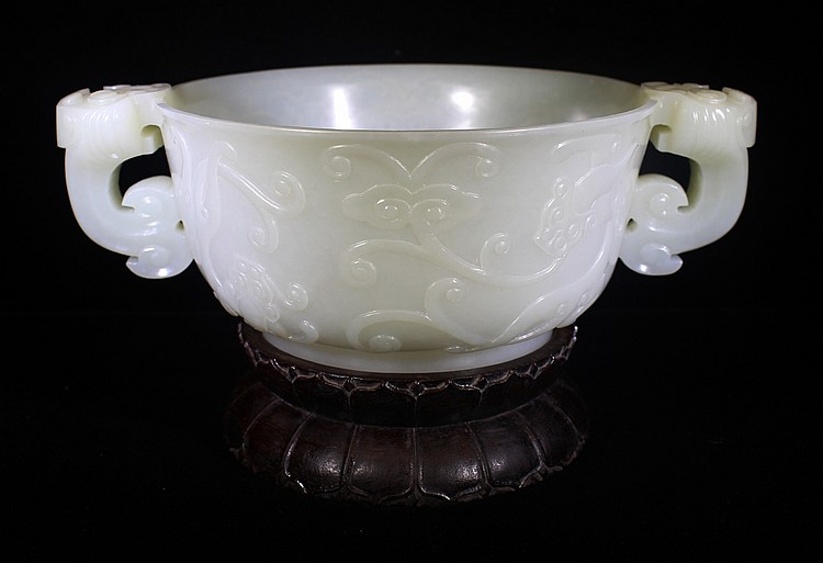 CHINESE WHITE JADE CENSER OF EXCEPTIONAL QUALITY