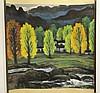 WATERCOLOR SIGNED LIN FENGMIAN (1900-1991), Fengmian Lin, $100