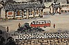 MOUNTAIN & VILLAGE SCENE SIGNED QIAN SONGNIAN