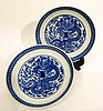 PAIR OF KANGXI BLUE AND WHITE PLATES