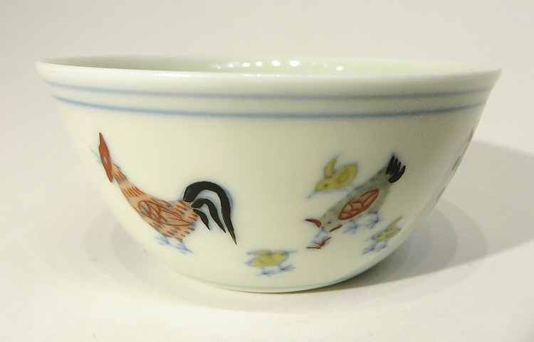 CHINESE DOUCAI CHICKEN CUP