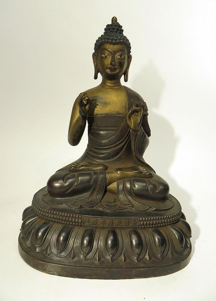 CHINESE QING DYNASTY BRONZE BUDDHA