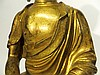 CHINESE QING DYNASTY GILT BRONZE BUDDHA