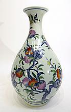 CHINESE QIAN LONG MARKED DOU CAI VASE
