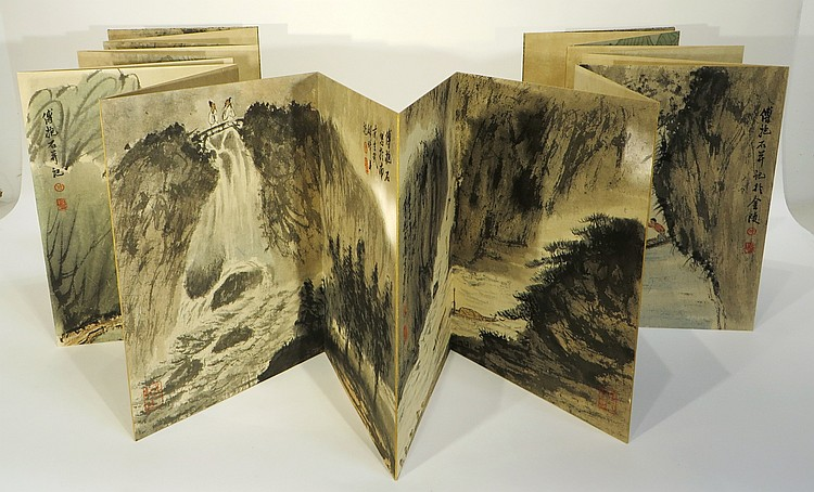 CHINESE PAINTING BOOK ATTR FU BAOSHI (1904-1965)