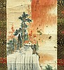 SMALL LANDSCAPE SCROLL ZHANG DAQIAN (1899-1983)
