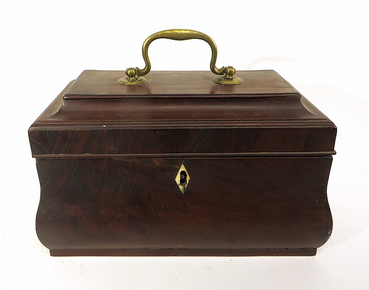 MAHOGANY TEA CADDY 18TH C.