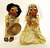 UNUSUAL MEXICAN BRIDE AND GROOM DOLLS