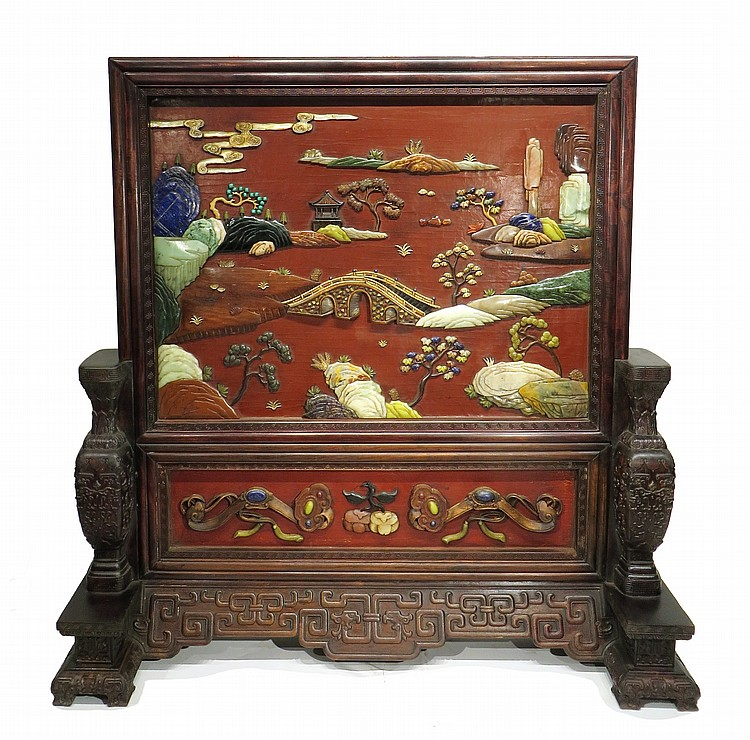 CHINESE MONUMENTAL TABLE SCREEN