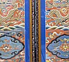 PAIR OF KESI DRAGON  FRAMED EMBROIDERIES