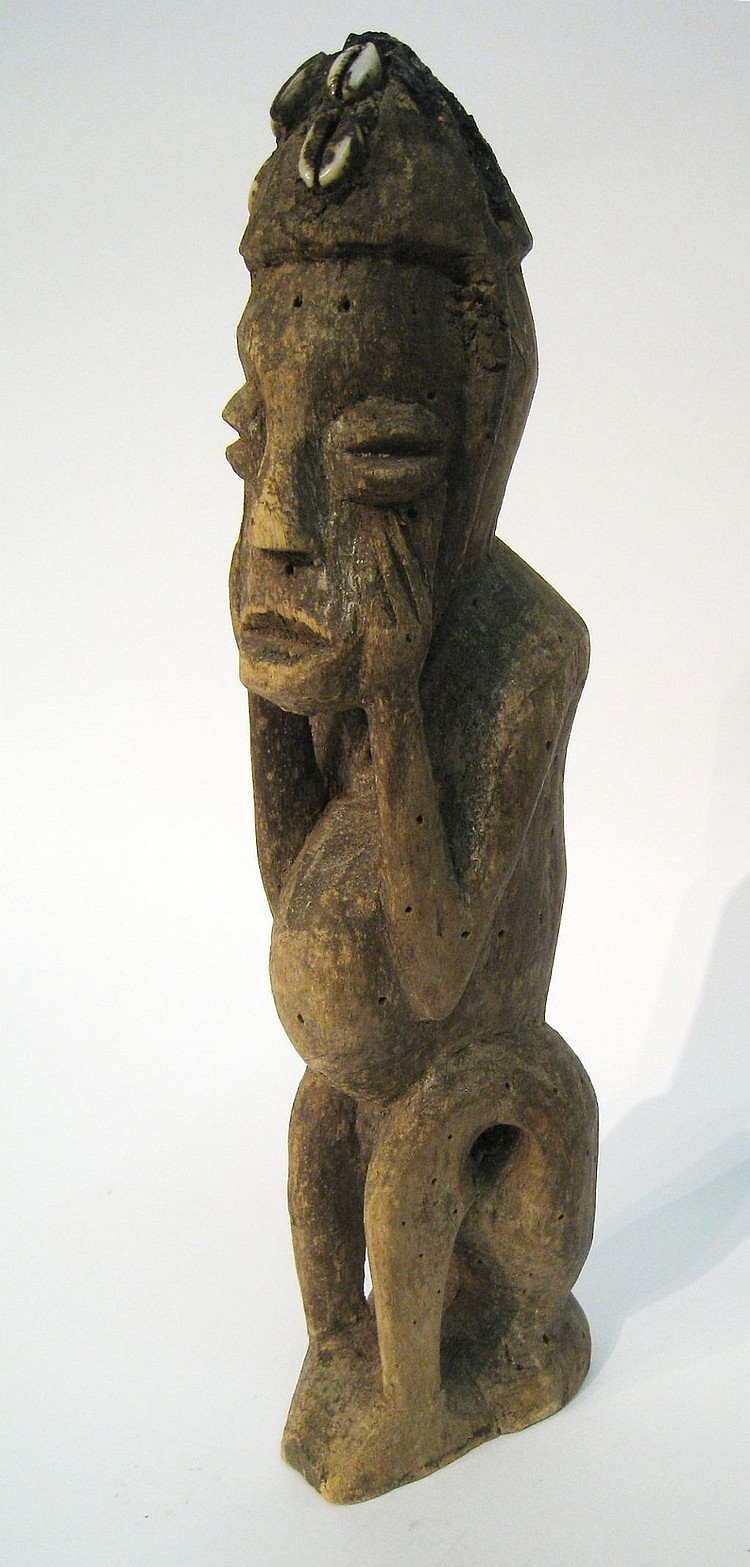HAND CARVED AFRICAN STATUE