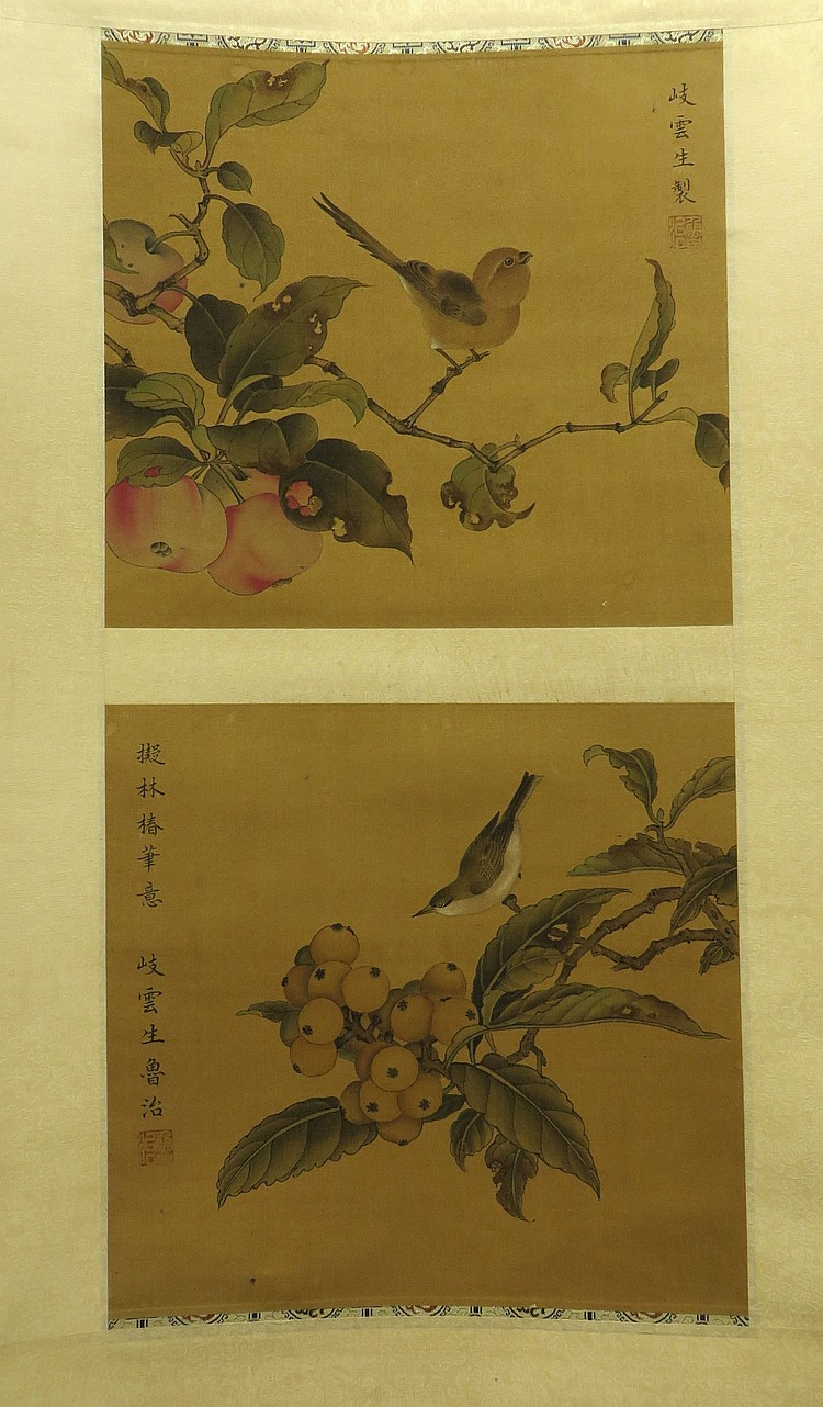 CHINESE SONG DYNASTY SCROLL OF BIRDS