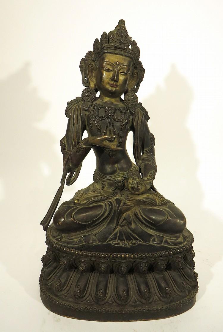 CHINESE YONG LE BRONZE BUDDHA