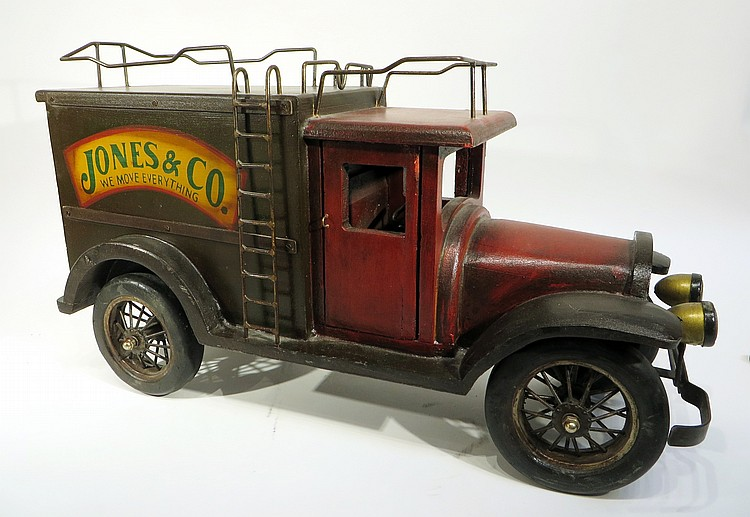 CUSTOM MADE WOODEN TOY MOVING TRUCK