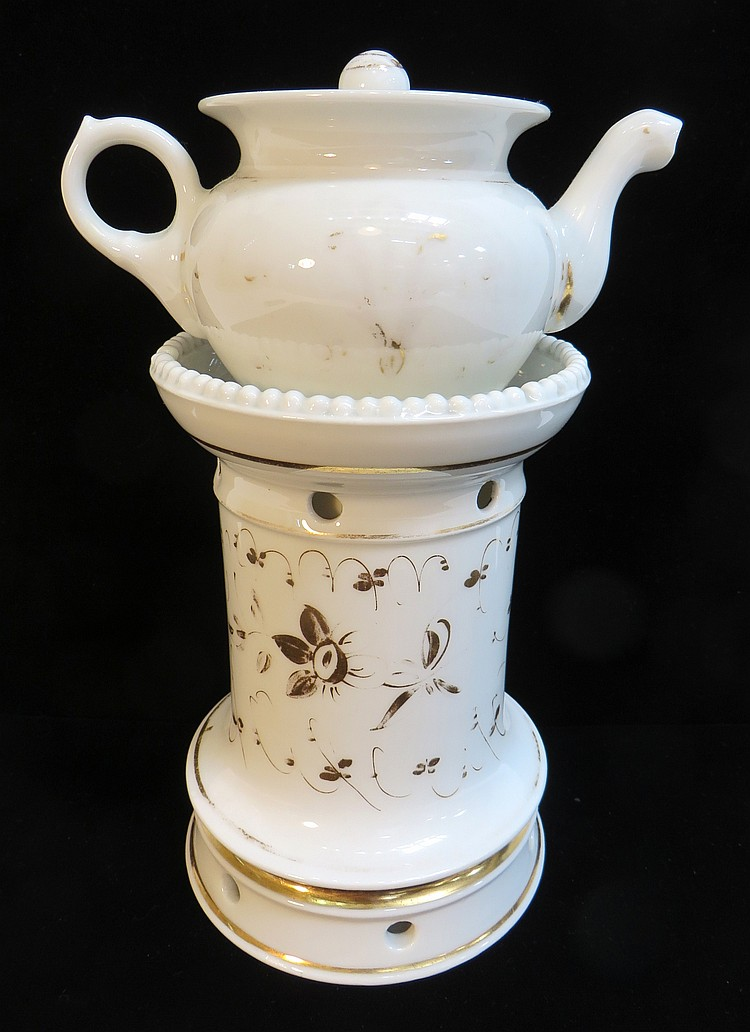 ANTIQUE SAMOVAR LIKE TEA/COFFEE POT IN PORCELAIN