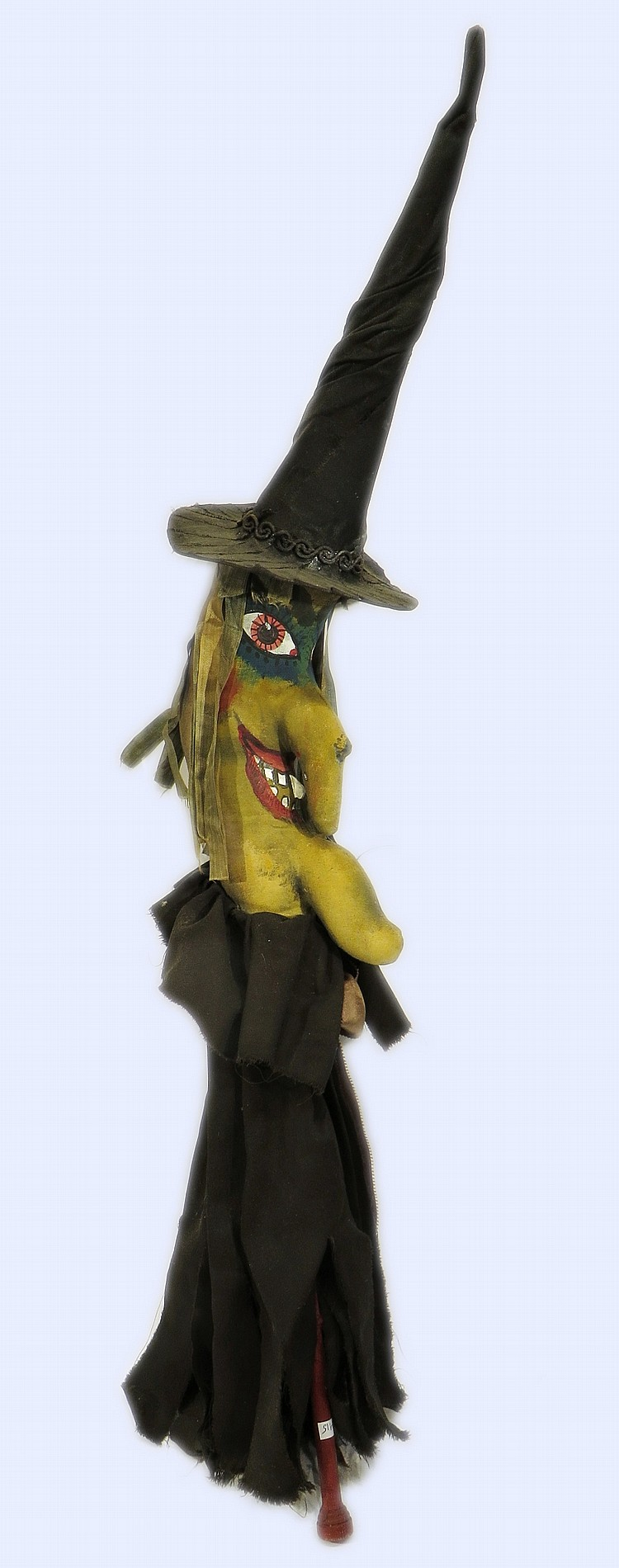 HAND MADE WICKED WITCH STICK PUPPET