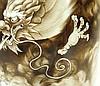 YONG ZHENG MARKED BROWN INK BRUSH POT