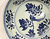 CHINESE MING BLUE AND WHITE PLATE