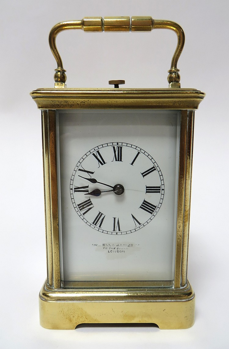 BRASS FRENCH MADE TRAVEL CLOCK