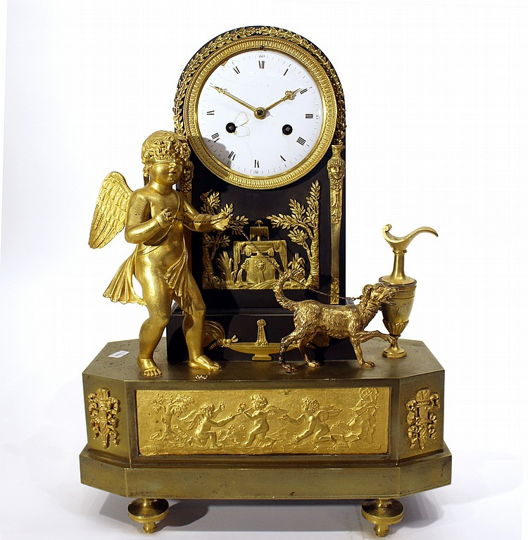 EARLY 19TH C. FRENCH MANTEL CLOCK