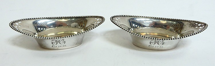 STERLING SILVER NUT BOWLS