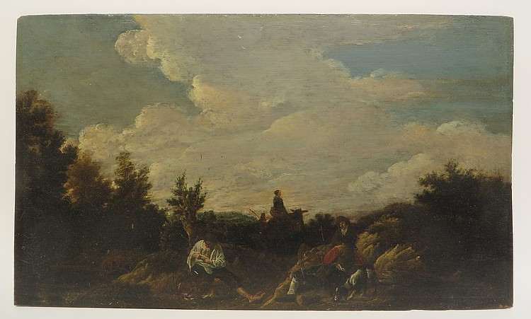 OIL ON BOARD, CONTINENTAL, 18-19TH C.