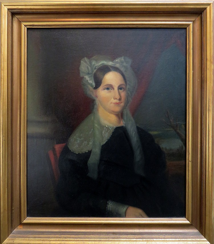 OIL PAINTING OF ANNE HUNTER DEWEES (1804- 1889)