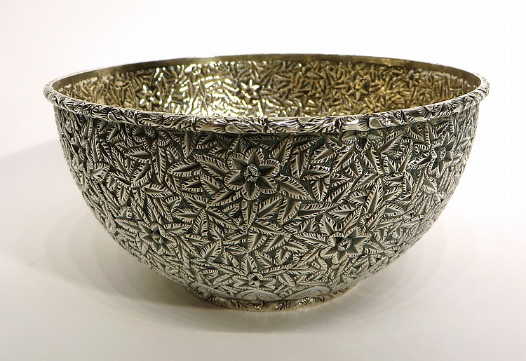 STERLING SILVER REPOSSE BOWL BY J E CALDWELL