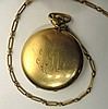 HAMILTON POCKET WATCH 16S WITH CHAIN