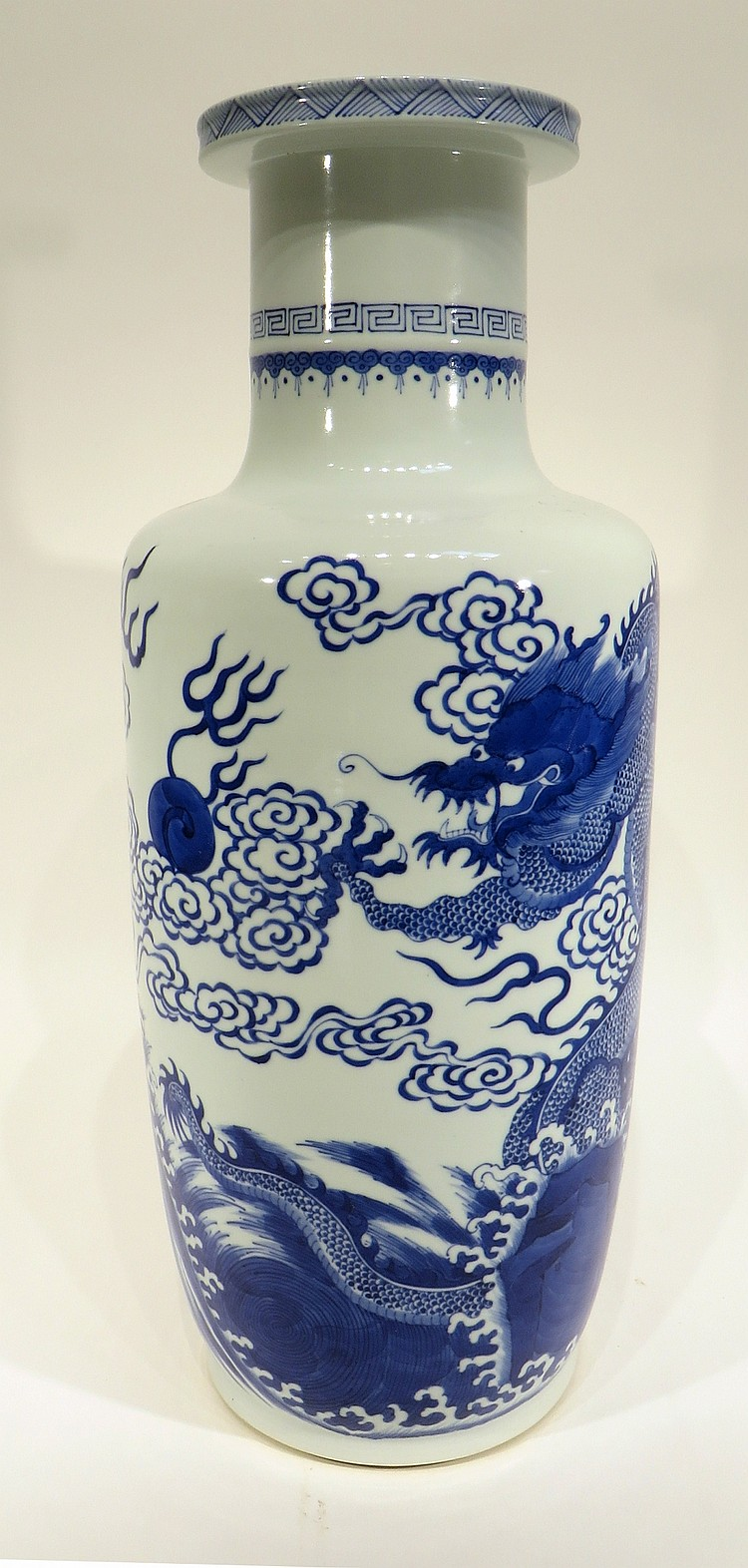 CHINESE KANG XI MARKED DRAGON VASE