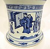 CHINESE KANG XI MARKED BLUE AND WHITE VASE