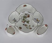 COALPORT TRAY WITH SUGAR AND CREAMER