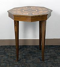 OCTAGONAL MUSIC BOX TABLE