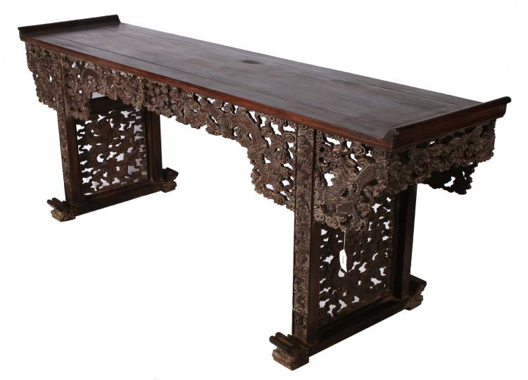 Carved zitan altar table for Asian furniture dc