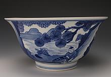 CHINESE BLUE & WHITE KANGXI BOWL